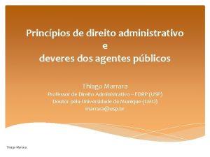Princpios de direito administrativo e deveres dos agentes