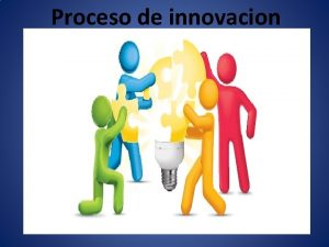 Proceso de innovacion El proceso de innovacion El