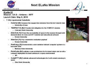 Next ELa Na Mission ELa Na 23 Mission