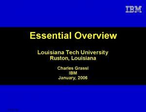 Essential Overview Louisiana Tech University Ruston Louisiana Charles