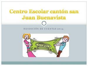 Centro Escolar cantn san Juan Buenavista RENDICIN DE
