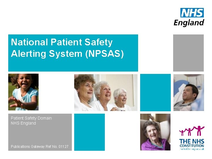 National Patient Safety Alerting System NPSAS Patient Safety