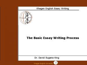 Khagan English Essay Writing The Basic Essay Writing