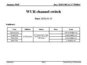 January 2018 doc IEEE 802 11 170380 r