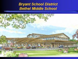 Bryant School District Bethel Middle School Bryant School