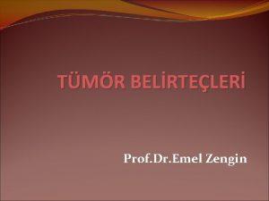 TMR BELRTELER Prof Dr Emel Zengin KANSER Basit