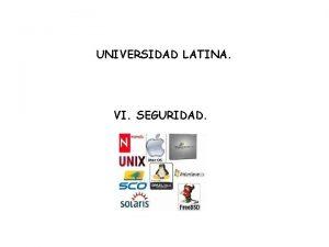 UNIVERSIDAD LATINA VI SEGURIDAD Que es seguridad La