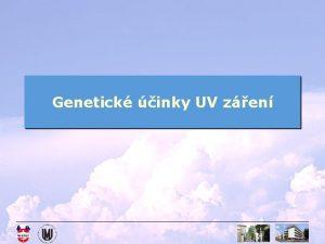 Genetick inky UV zen Indukovan mutace UV zen