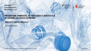 PROGRAMA AMBIENTE ALTERAES CLIMTICAS E ECONOMIA DE BAIXO
