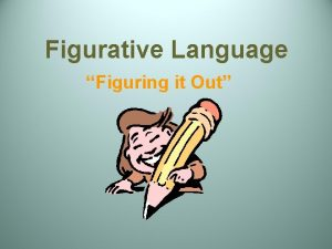Figurative Language Figuring it Out Figurative Language Figuratively