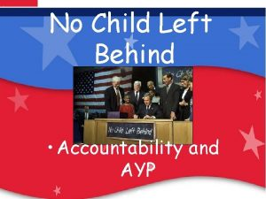 No Child Left Behind Our Children Are Our