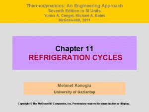 Thermodynamics An Engineering Approach Seventh Edition in SI
