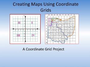 Creating Maps Using Coordinate Grids A Coordinate Grid