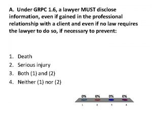 A Under GRPC 1 6 a lawyer MUST