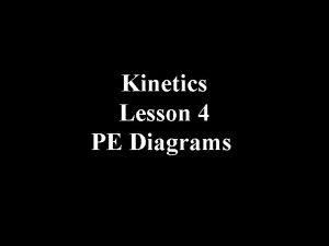 Kinetics Lesson 4 PE Diagrams Potential Energy Diagrams