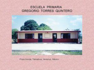 ESCUELA PRIMARIA GREGORIO TORRES QUINTERO Poza Honda Tamiahua