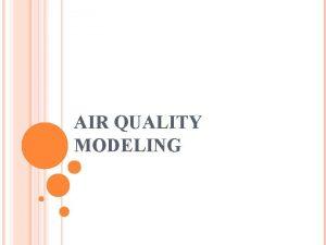 AIR QUALITY MODELING AIR QUALITY MODELING AQM Predict