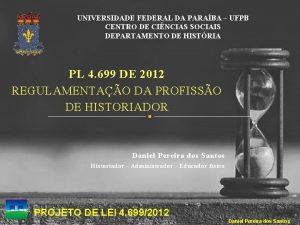 UNIVERSIDADE FEDERAL DA PARABA UFPB CENTRO DE CINCIAS