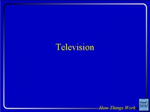 Television Question A television image is created by