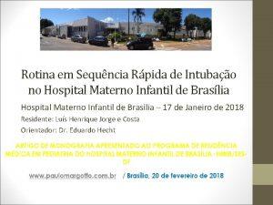 Rotina em Sequncia Rpida de Intubao no Hospital