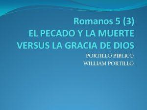 Romanos 5 3 EL PECADO Y LA MUERTE