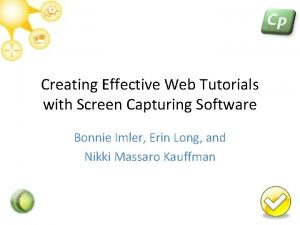 Creating Effective Web Tutorials with Screen Capturing Software