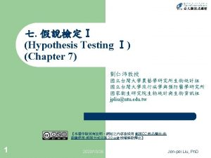 Hypothesis Testing TypeTypeError Procedures of Hypothesis Testing Sample