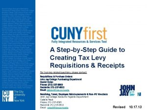 A StepbyStep Guide to Creating Tax Levy Requisitions