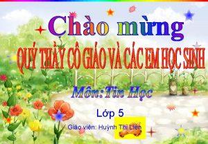 Lp 5 Gio vin Hunh Th Lin Em