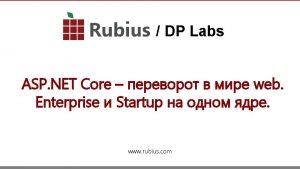 DP Labs ASP NET Core web Enterprise Startup