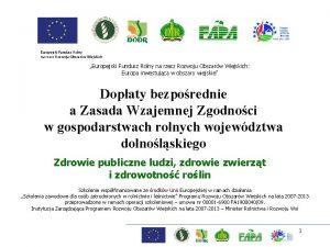 Europejski Fundusz Rolny na rzecz Rozwoju Obszarw Wiejskich