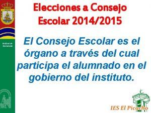Elecciones a Consejo Escolar 20142015 Sanlcar de Barrameda