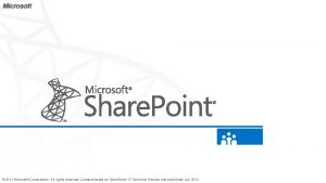 2012 Microsoft Corporation All rights reserved Content based