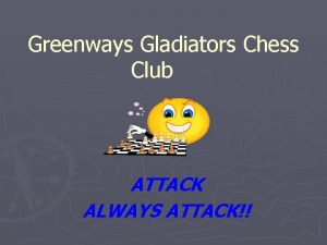 Greenways Gladiators Chess Club ATTACK ALWAYS ATTACK Setup
