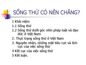 SNG TH C NN CHNG 1 Khi nim