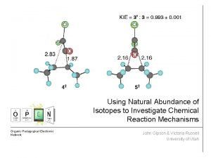 Using Natural Abundance of Isotopes to Investigate Chemical