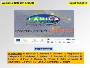 Workshop INFN CCR GARR Napoli 1652012 People involved