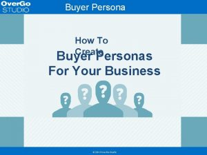 Buyer Persona Template How To Create Buyer Personas
