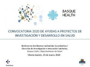 CONVOCATORIA 2020 DE AYUDAS A PROYECTOS DE INVESTIGACIN