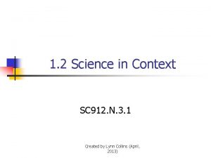 1 2 Science in Context SC 912 N