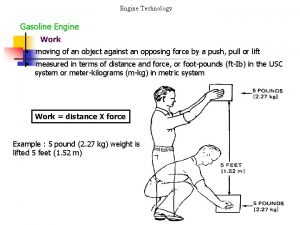 Engine Technology Gasoline Engine Work moving of an