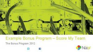 Example Bonus Program Score My Team The Bonus