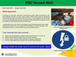 PDO Second Alert Date 30 04 2018 Incident