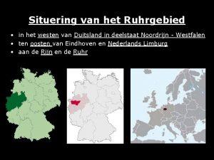 Situering van het Ruhrgebied in het westen van