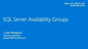 High Availability and Disaster recovery High Availability only