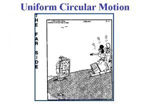 Uniform Circular Motion Uniform Circular Motion Physics of
