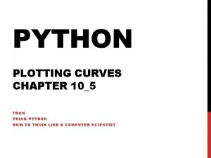 PYTHON PLOTTING CURVES CHAPTER 105 FROM THINK PYTHON