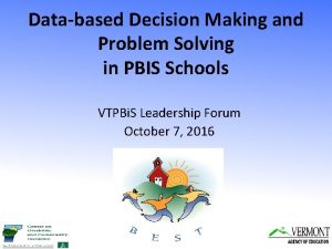Databased Decision Making and Problem Solving in PBIS