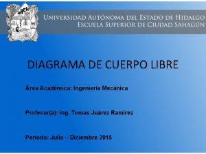 DIAGRAMA DE CUERPO LIBRE rea Acadmica Ingeniera Mecnica