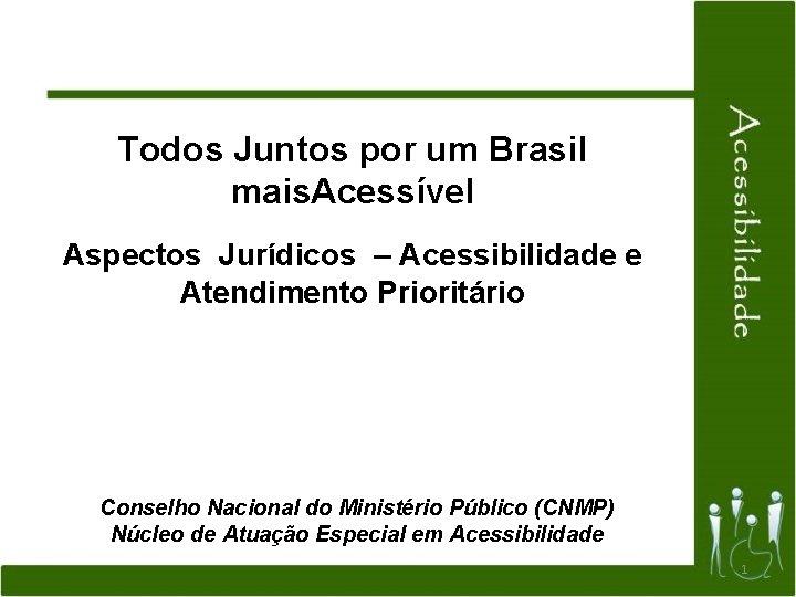 Todos Juntos por um Brasil mais Acessvel Aspectos